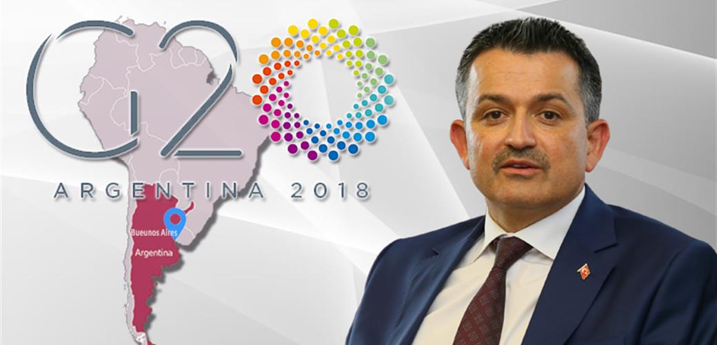 Minister Pakdemirli will attend the Meeting of G20 Agriculture Ministers.