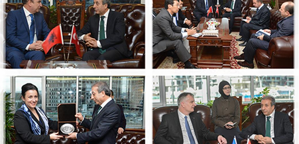 Minister Eker receives the ministers of agriculture from four countries at his office