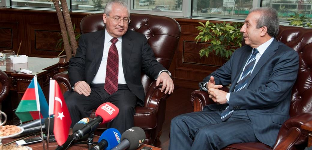 Minister Eker receives the Minister of Agriculture of Azerbaijan Mr. Asadov at his office